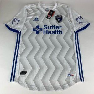 San Jose Earthquakes MLS Authentic Adidas Jersey